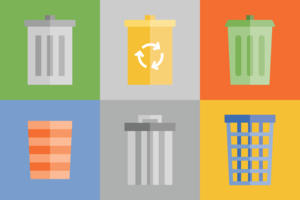 Waste Basket Icon Pack vector