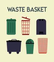 Vector de cesta de lixo grátis