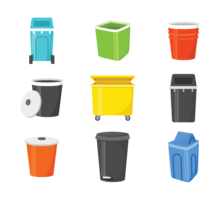 Abfallkorb-Vektor