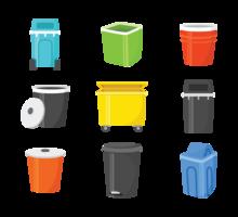 Waste Basket Vector