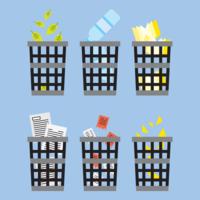 Waste Basket Icon Set