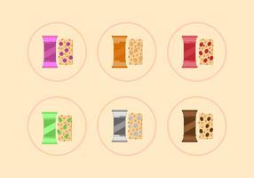 Seis variantes de vectores de granola