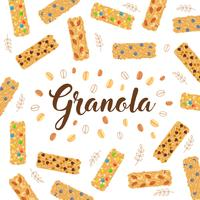 Granola Backgroud Illustration