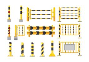 Set Detailed Illustration of a Guardrail vector