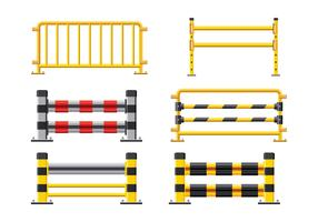 Steel Road Fence. Design Elements of the Guardrails vector