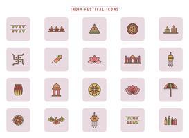 Vectores gratis del festival de la India