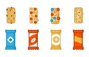 Vector de iconos de granola gratis
