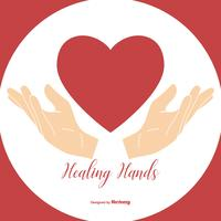 Healing Hands Holding Heart Illustration