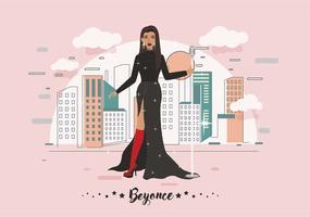 Beste jurk Beyonce Vector