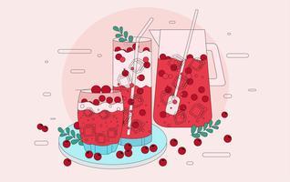 Cranberries Juice Vector