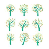 Free Peach Tree Vector Collection