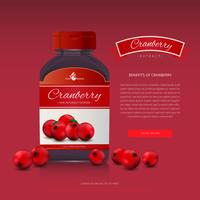 Cranberries Extract Advertising Template