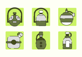 Canteen Free Vector Pack