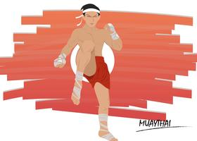 Muay Thai Fighting Pose vecteur