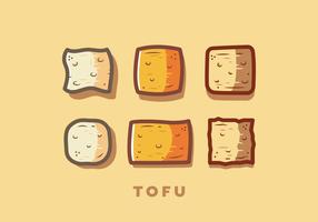 Vecteur gratuit de tofu