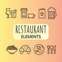 Gratis restaurangelement Vector