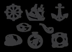 Dibujado a mano marinero vectores