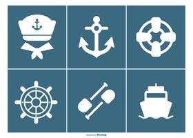 Collection d'icônes nautiques