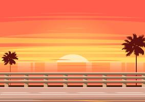 Beach Road with Guardrail Vector