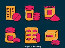 Hand Drawn Supplements Vector