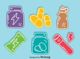 Colorful Supplement Icons Vector