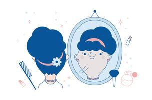 vetor de espelho livre