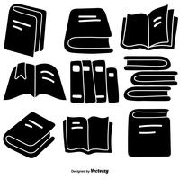 Vector Hand Drawn Style Book Icons Set