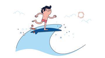 Vector gratuito de surf