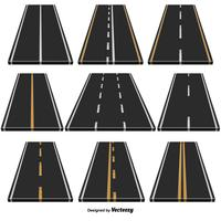Conjunto de vetores de 9 rodovias