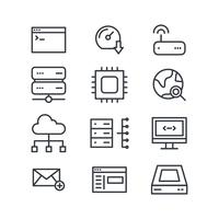 Black & White Domain Icons vector