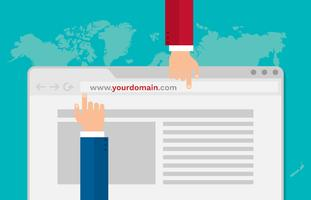 Obtener el mejor sitio web de dominio para hacer crecer su negocio Vector Illustration