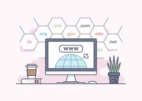 Domain Name Registration Concept Design