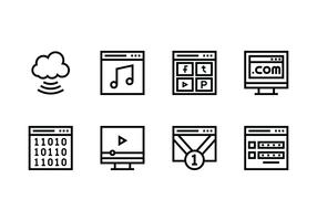Website set linear icon vector