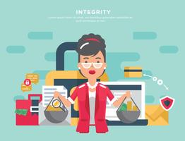 Free Integrity in Business Vector