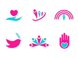 Kindness and Charity Logo Vectors