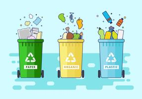 Gratis Waste Basket Vector Illustration
