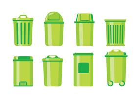 Papelera y vector de cesta de residuos