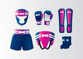 Muay Thai Equipment Gratis Vector