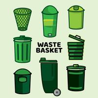 Waste Basket Flat Icon