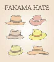 vetor de chapéus panama grátis