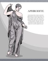 aphrodite croquis vintage vector illustration