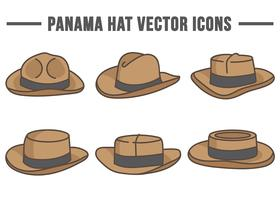 Panama Hat Vector Icons