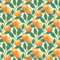 Peach Tree Seamless Vector Pattern