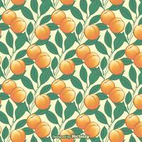Peach Tree Seamless Vector Pattern
