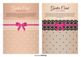 Garter Card Vector Templates