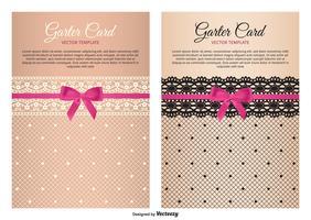 Garter Card Vector Templates