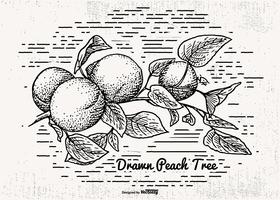 Sketchy Peach Tree Illustration