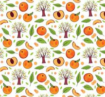 Free Peach Pattern Vectors