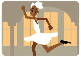 Tap Dancer Girl Vector