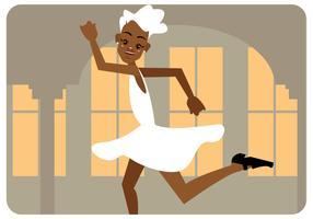 vector de chica bailarina de golpe